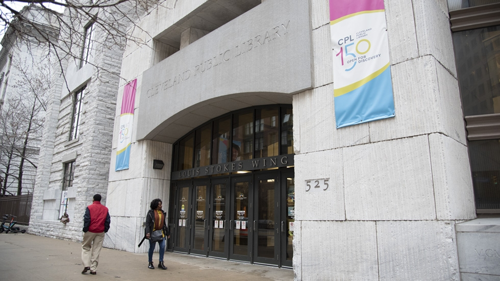 Cleveland Public Library Downtown branch in January 2020.