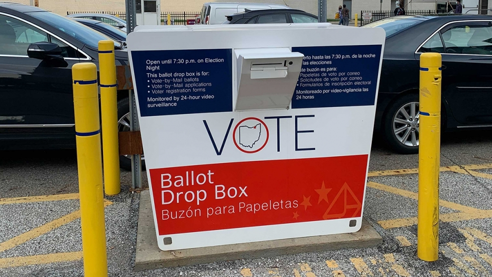 The Cuyahoga County Board of Elections is collecting voted absentee ballots at a dropbox in its parking lot. Starting Oct. 13, the board plans to receive ballots down the street at a second location.