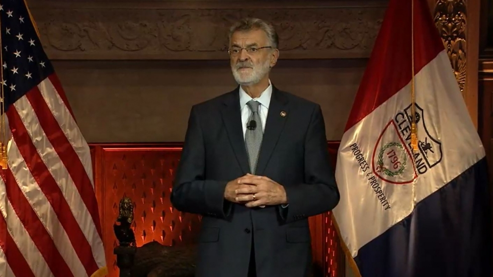 Cleveland Mayor Frank Jackson delivers his state of the city address over Facebook Live.