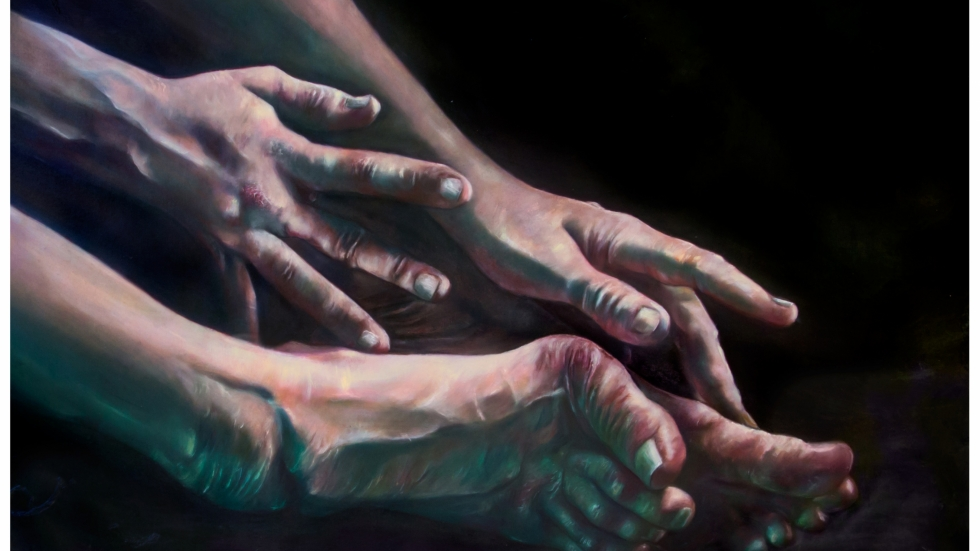The arts collective MANDEM renders an image of hands and feet twisted by a genetic disease as a thing of beauty.