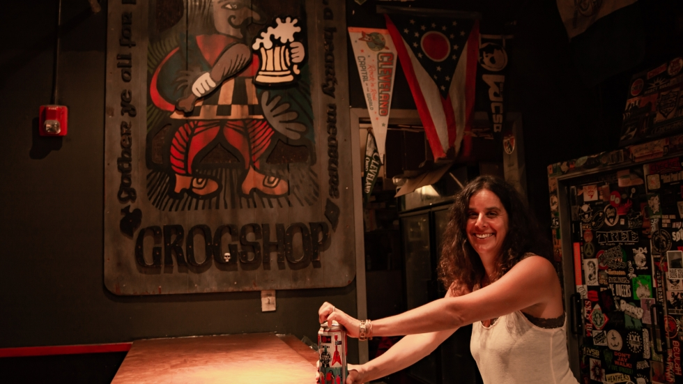 Grog Shop Owner Kathy Blackman is applying for county dollars to keep the Cleveland Heights music club afloat.