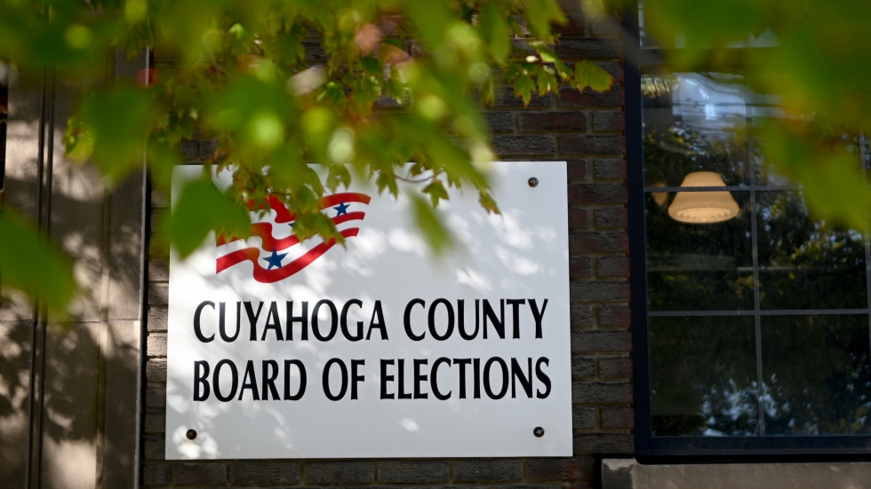 On Election Night, the Cuyahoga County Board of Elections tabulates votes at its warehouse in Cleveland.