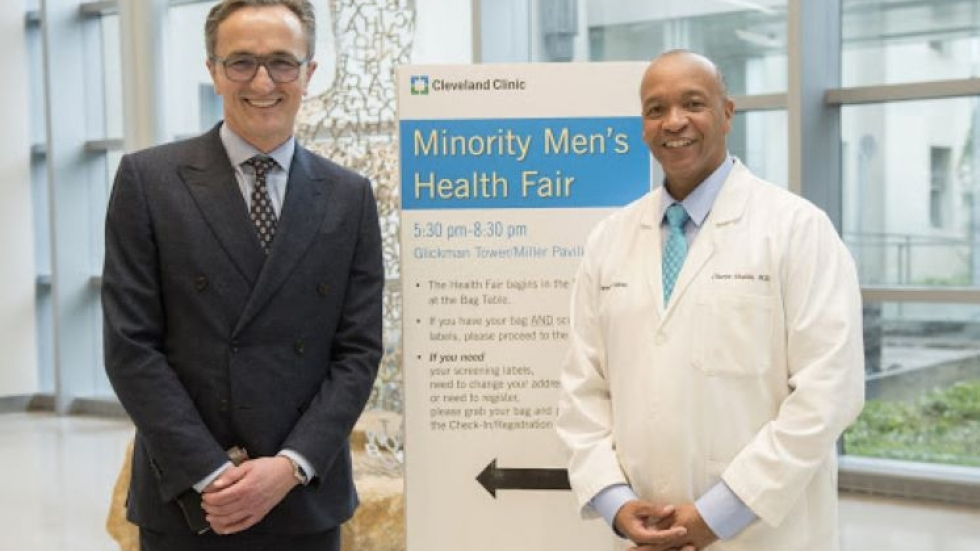 Cleveland Clinic President and CEO Dr. Tomislav Mihaljevic and Dr. Charles Modlin at the 2019 Minority Men's Health Fair.