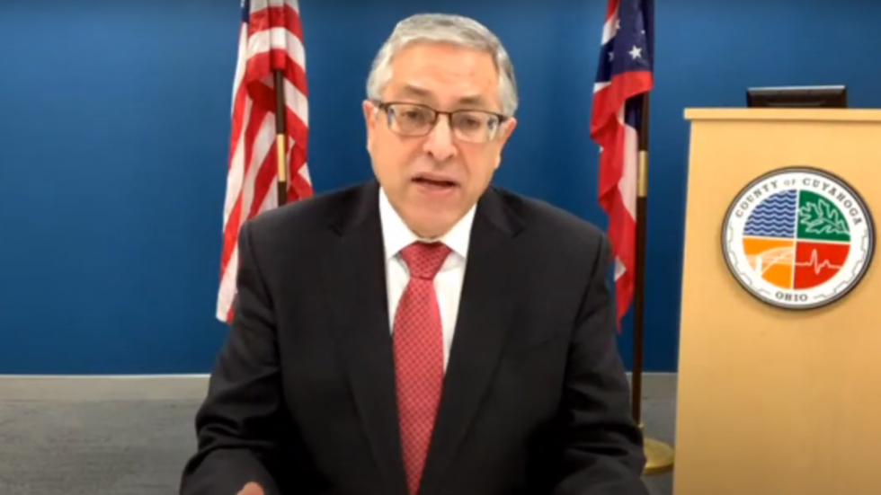 In a press conference Wednesday, County Executive Armond Budish and other local leaders announced a 28-day stay-at-home advisory in an effort to curb the spread of COVID-19 in Cleveland and Cuyahoga County. [Cuyahoga County Board of Health]