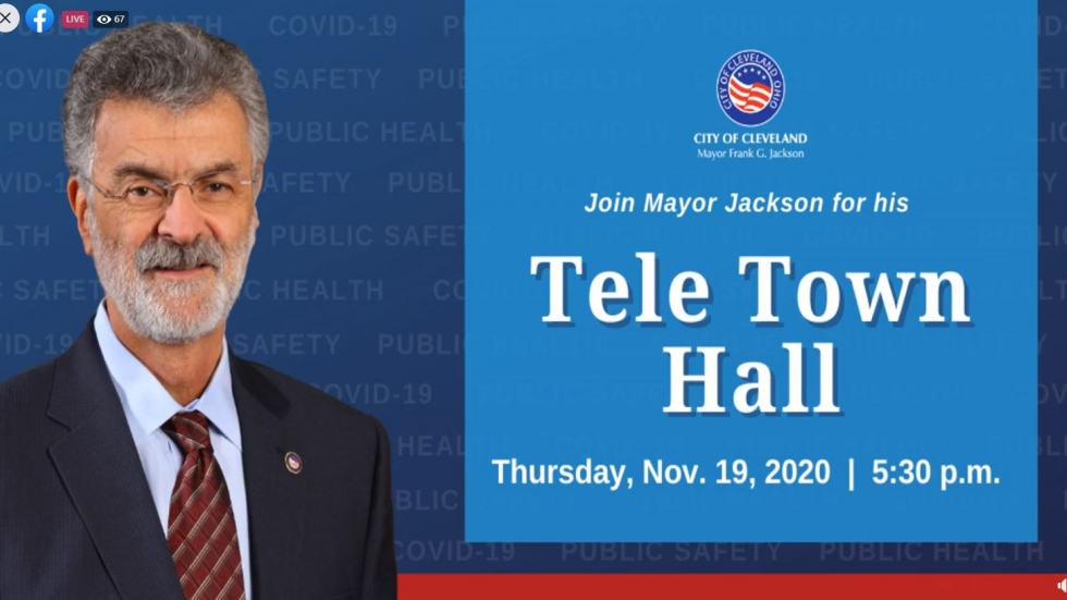 Cleveland Mayor Frank Jackson's town hall was by phone and on Facebook Live. [Facebook]