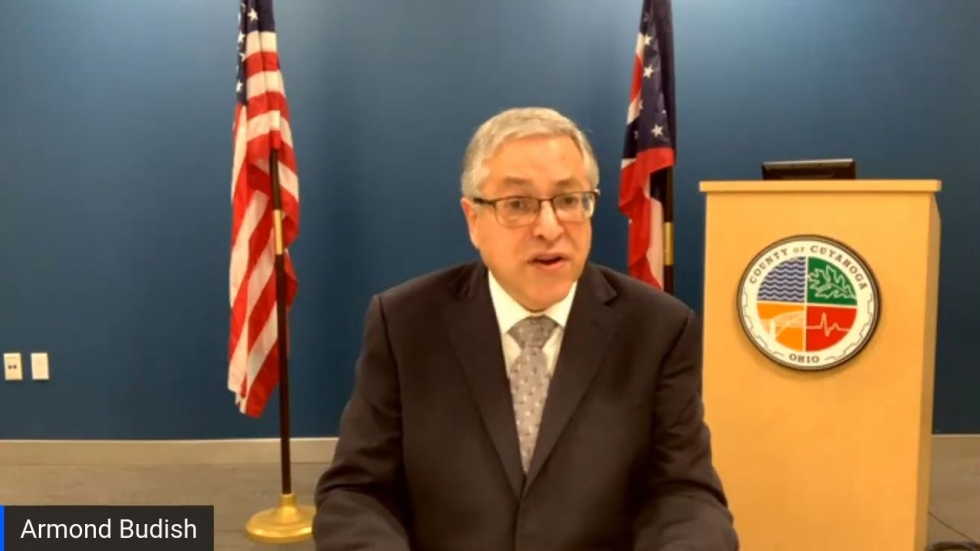 County Executive Armond Budish made the announcement at a county Board of Health meeting on Friday, November 20. [Youtube]