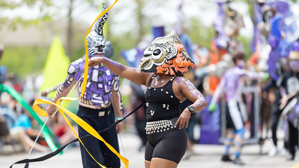 Dancers at Parade the Circle in Cleveland in 2019 [Roberto Galan / Shutterstock