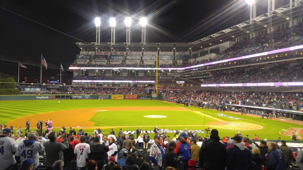 Cleveland's Major League Baseball, which plays at Progressive Field, team is looking for a new team name. [Gabriel Kramer / ideastream]