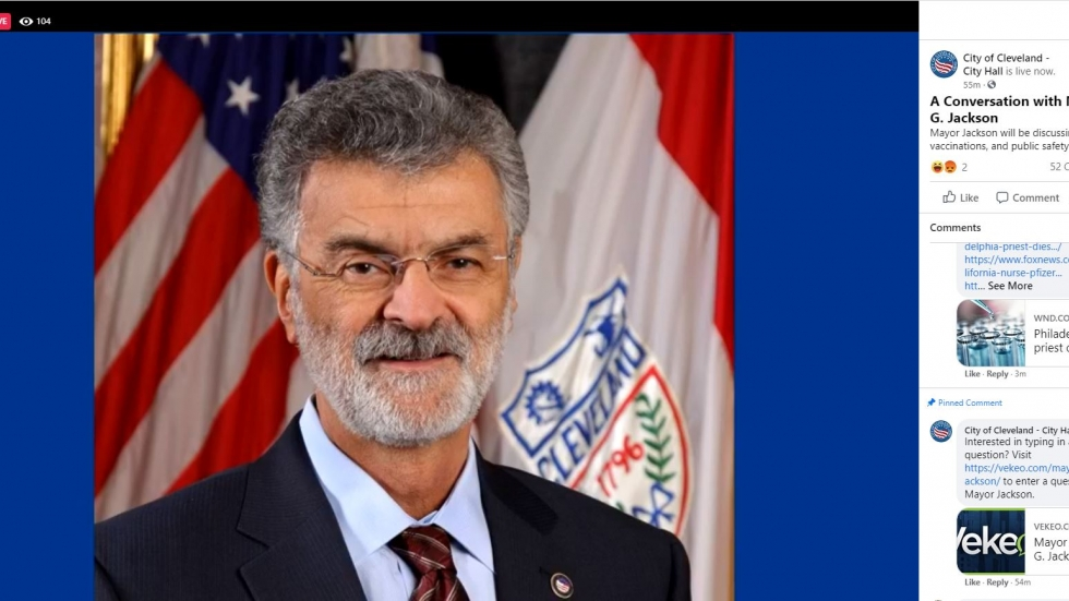 Mayor Frank Jackson addressed the public in a virtual town hall on Facebook and by phone. [City of Cleveland / Facebook]