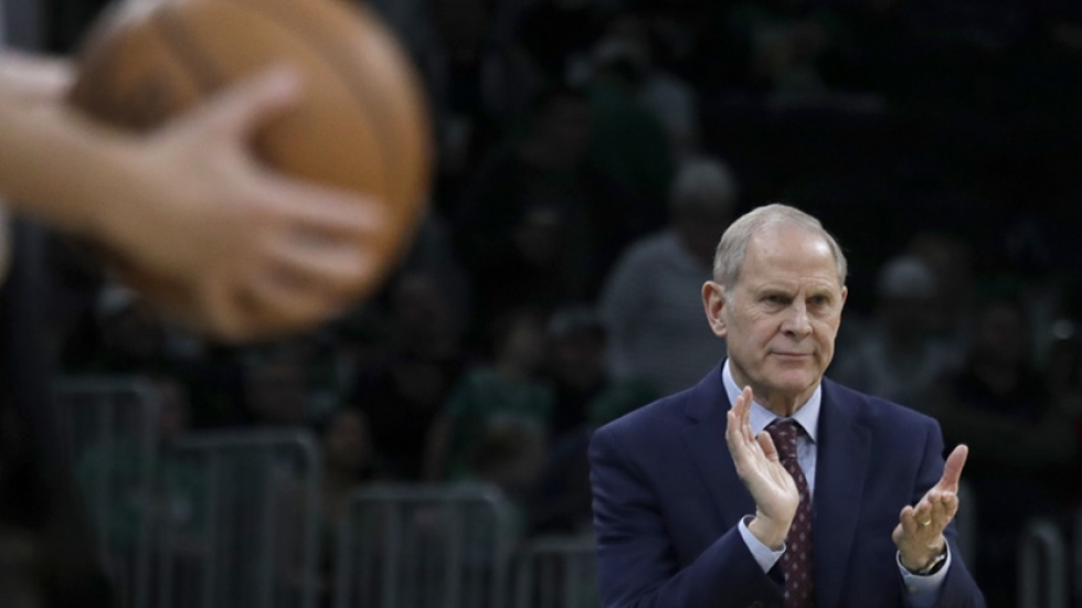 Cleveland Cavaliers head coach John Beilein reacts on the sideline in the second half of an NBA basketball game against the Boston Celtics, Friday, Dec. 27, 2019, in Boston. [Elise Amendola / AP]