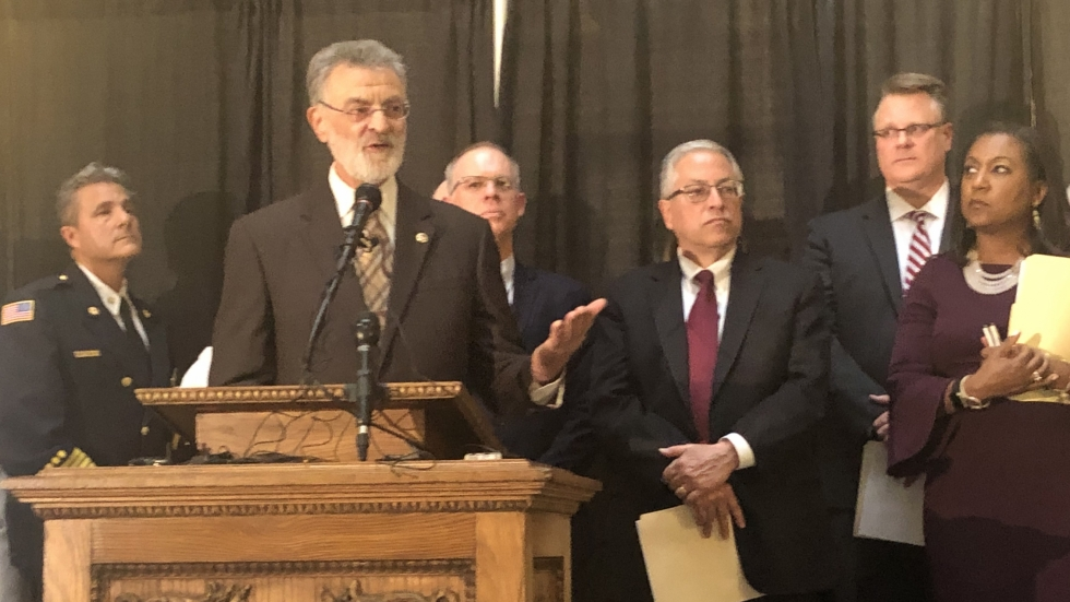 Cleveland Mayor Frank Jackson and Cuyahoga County officials responded to the announcement of three confirmed COVID-19 cases in Ohio.