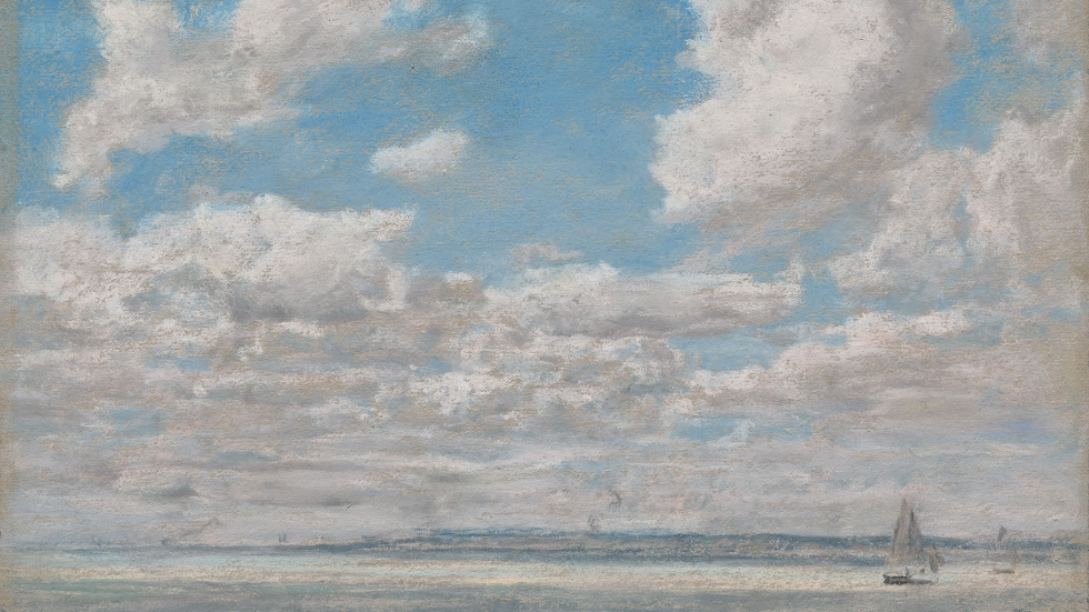 Pastel of a seascape