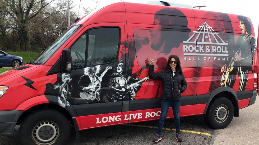 The Rock Hall's Lisa Vinciquerra is taking music to the masses with the Joy Ride van.