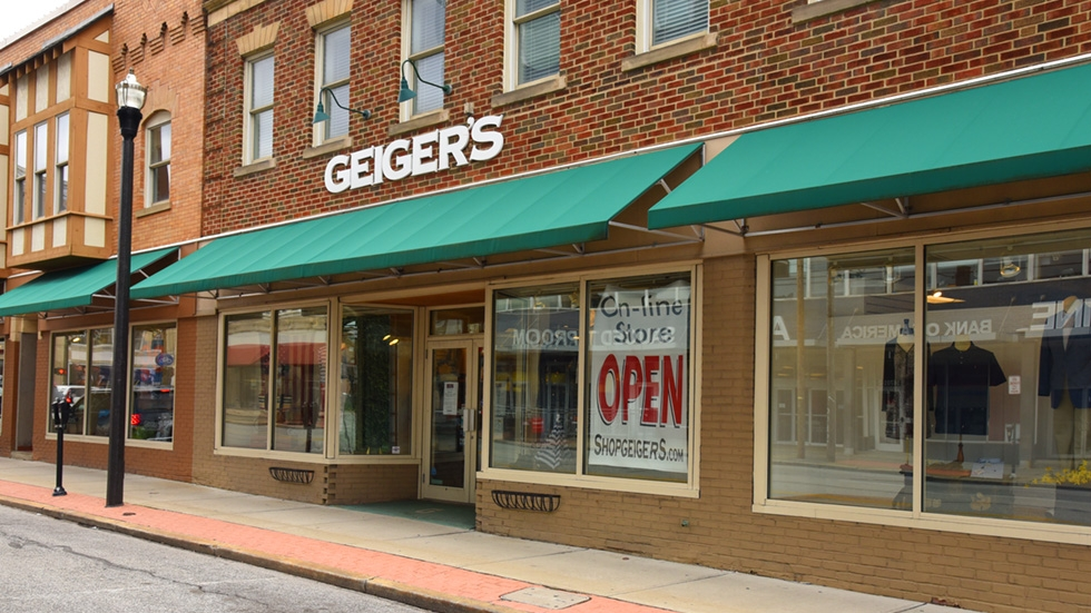 exterior of Geiger's flagship sporting goods store in Lakewood