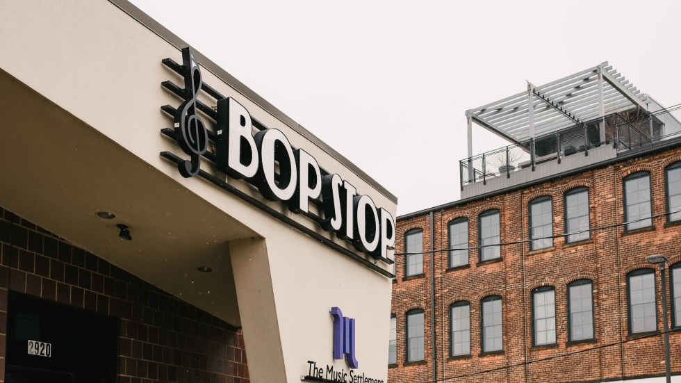The Bop Stop sign along Detroit Avenue on the near West side has greeted music fans for about 16 years.