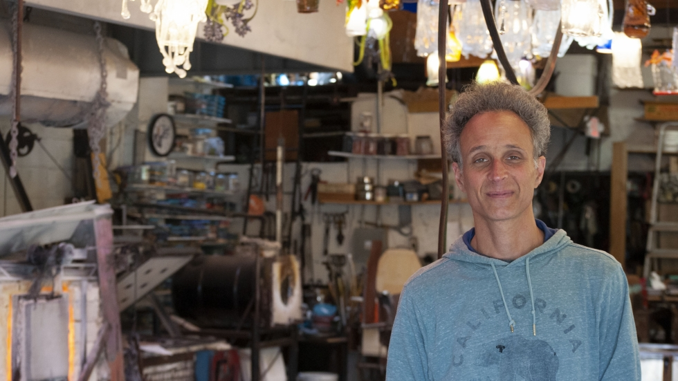 Michael Kaplan, owner of the Glass Bubble Project in Ohio City.