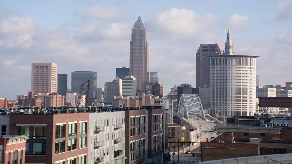 View of Cleveland's skyline