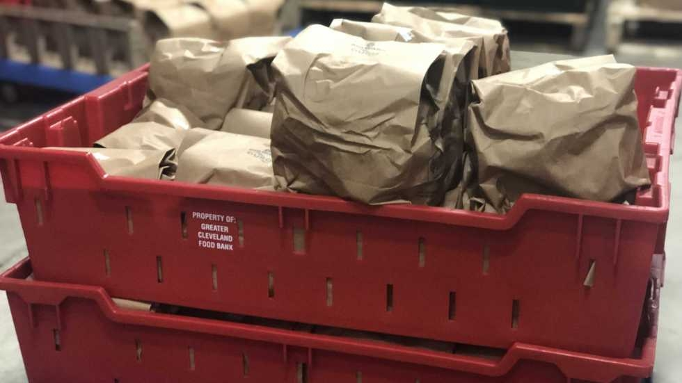Sack lunches The Greater Cleveland Food Bank provides to students over the summer.