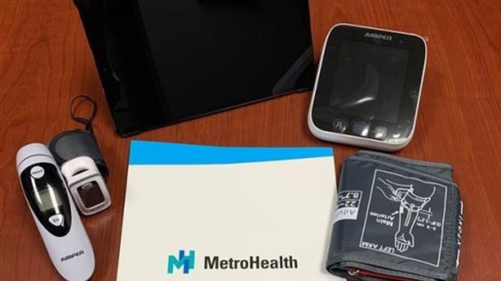 MetroHealth recently purchased 300 device kits to monitor vital signs at home. A few of the items include tablets, web cams and blood pressure cuffs. [MetroHealth]
