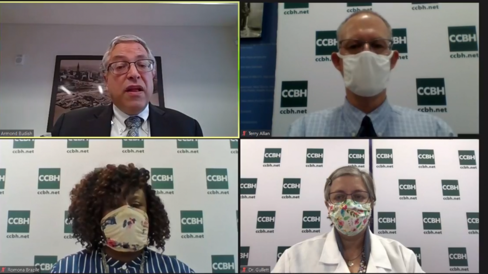 In a virtual press briefing July 10, county officials discussed that it will be up to local officials to enforce the county's mask mandate. The county will also take compliance complaints through a phone line and online form. [Cuyahoga County]