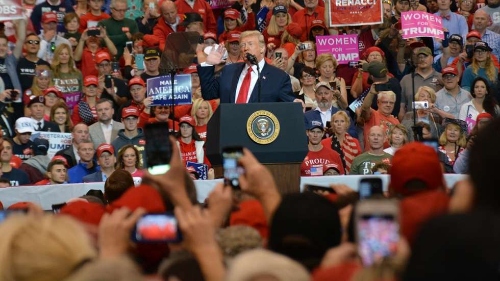 President Trump, seen here at a November 2018 campaign rally in Cleveland, is expected to return to Northeast Ohio next week for a fundraiser.