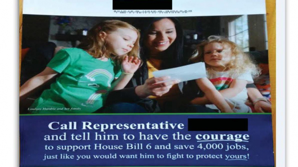 "According to the FBI, Generation Now paid for pro-HB6 mailers like this one. So-called ""dark money"" groups like Generation Now are not legally required to disclose their donors."