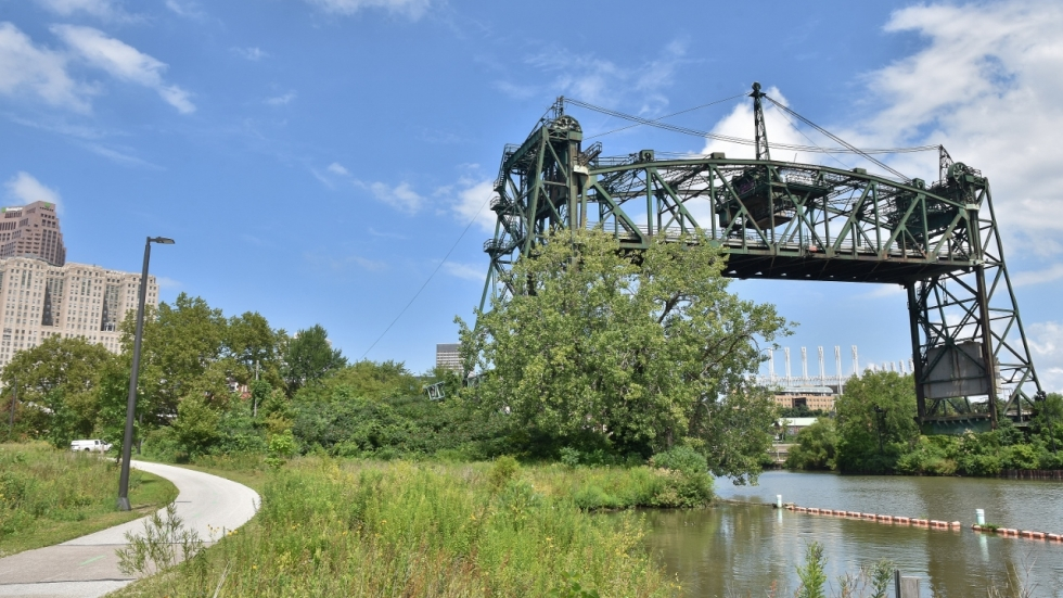 The non-working Eagle Avenue Lift Bridge could be used as a pedestrian crossing