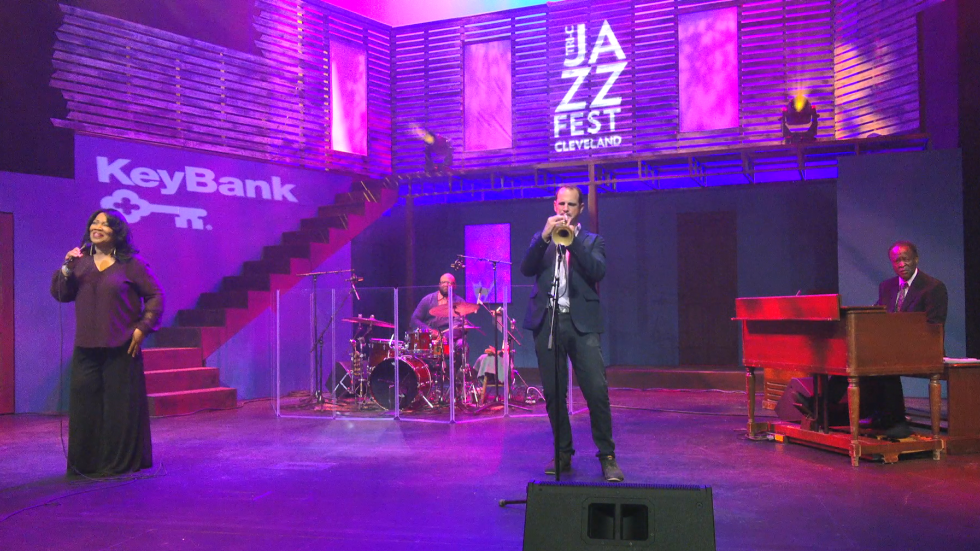 Evelyn Wright, Bill Ransom, Dominick Farinacci and Dave Thomas perform for the virtual 2020 Tri-C JazzFest