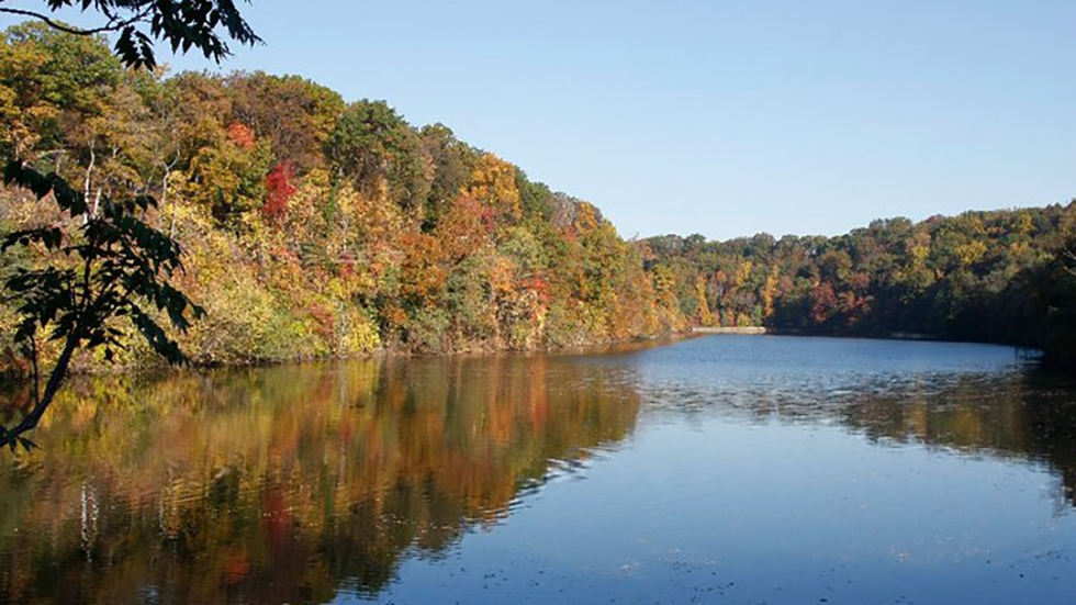 The Cuyahoga River in Gorge Metro Park.