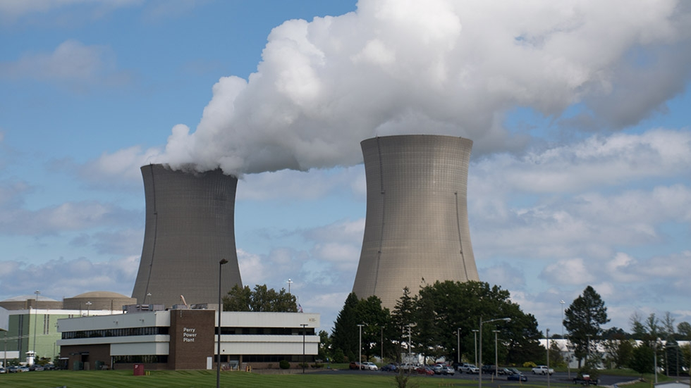 The FirstEnergy Solutions nuclear power plant in Perry, Ohio.