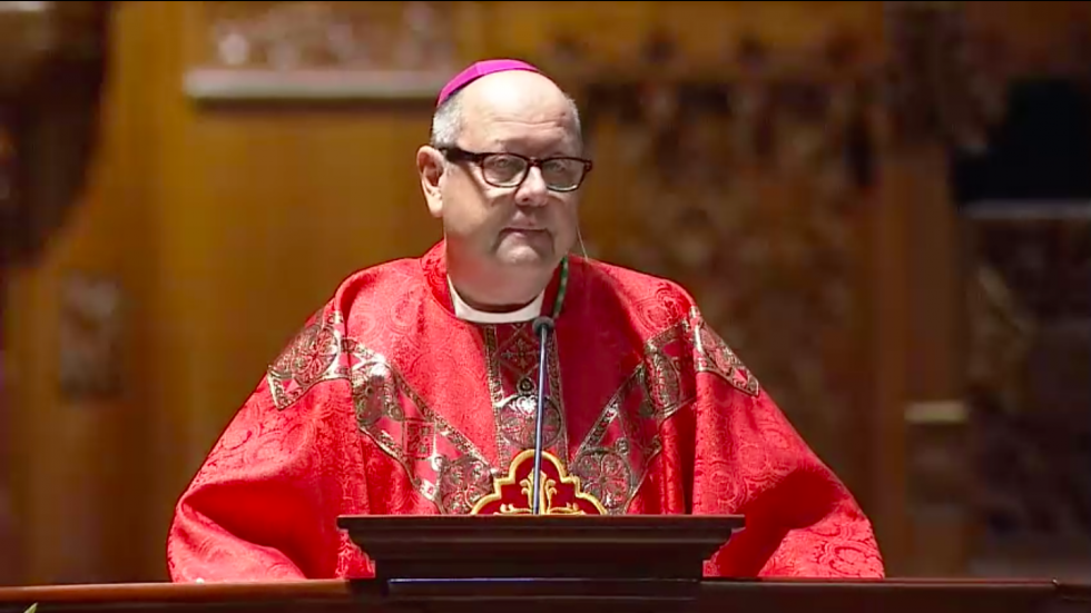 Bishop Edward Malesic at his installation Mass at St. John the Evangelist Cathedral in Downtown Cleveland