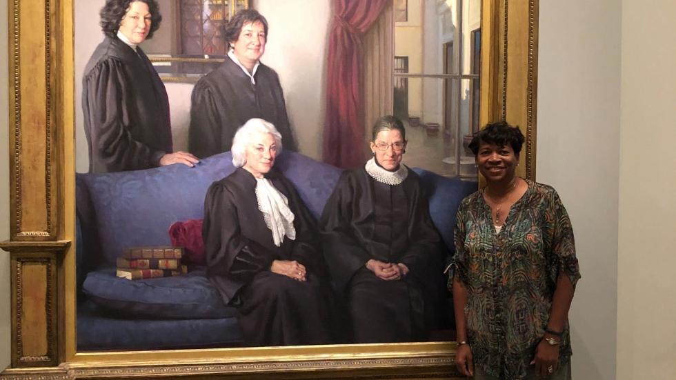Ohio Supreme Court Justice Melody Stewart at the National Portrait Gallery