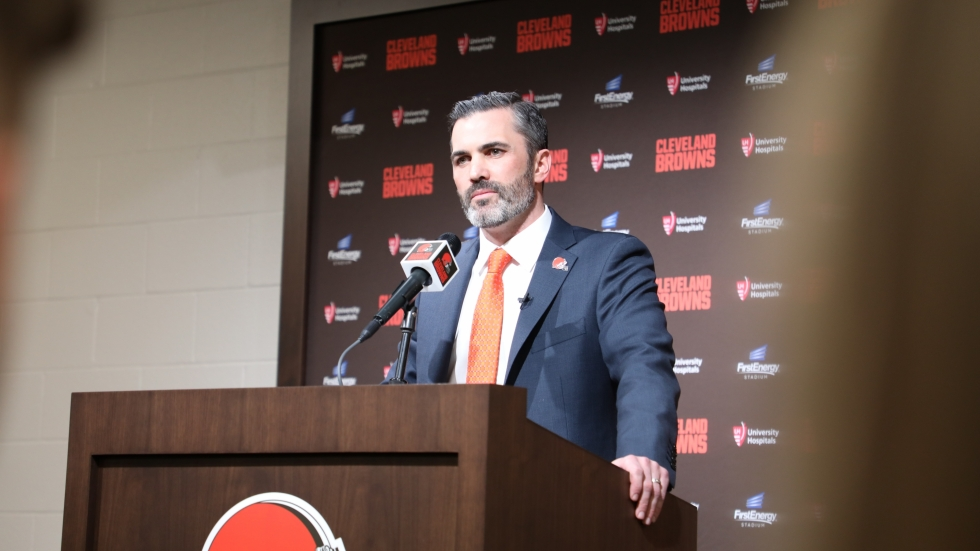 Cleveland Browns Head Coach Kevin Stefanski at a January 14, 2020 press conference.