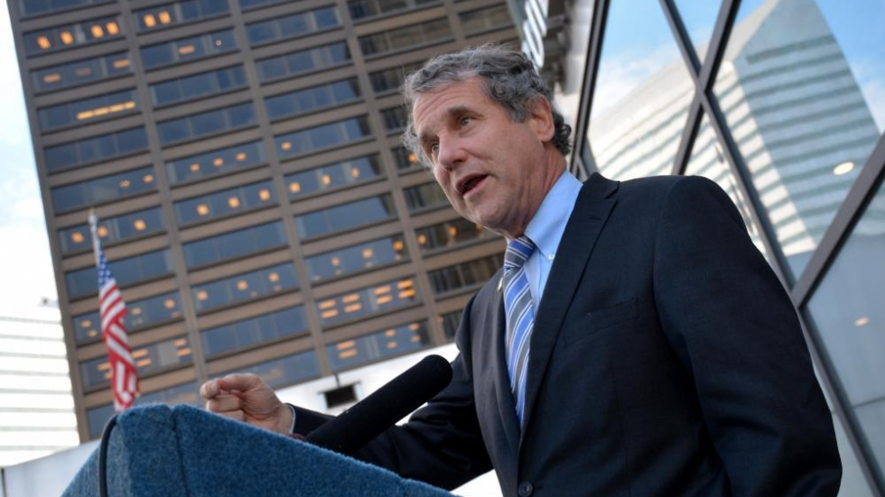 Sen. Sherrod Brown, pictured here in 2016, called for Trump's removal from office before the inauguration of President-election Joe Biden.