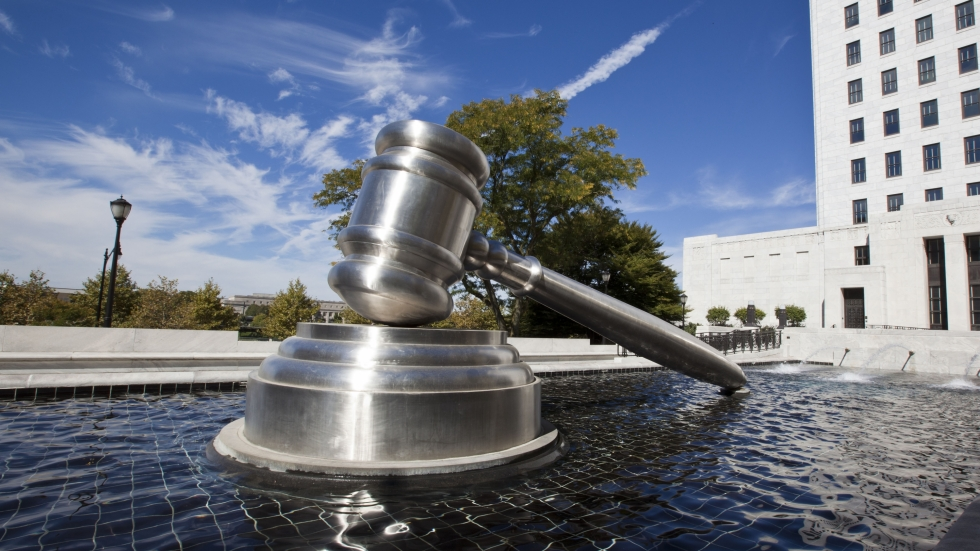 photo of sculpture outside supreme court