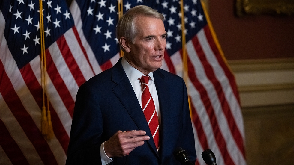Sen. Rob Portman, R-Ohio, speaks during a news conference after the Senate voted to confirm Amy Coney Barrett to the Supreme Court, Monday, Oct. 26, 2020, in Washington.