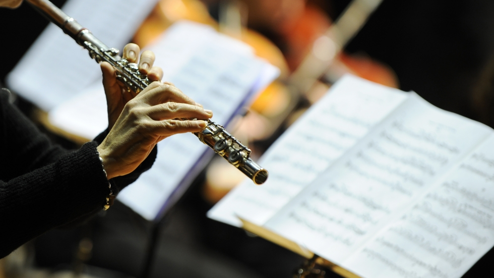 An orchestral flute player makes music, just as local advocates are playing a new tune when it comes to raising financial support for the arts