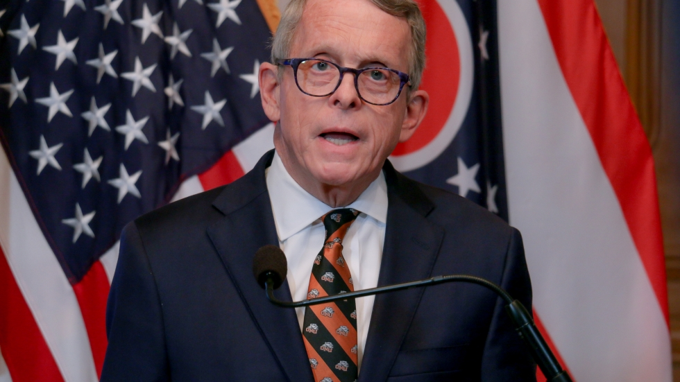 Gov. Mike DeWine held a press conference Friday evening on Feb. 12, 2021. [Office of Gov. Mike DeWine]