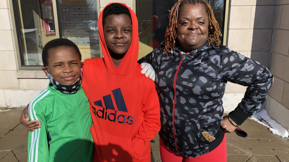 Thomasina Drake and her sons both students at CMSD schools