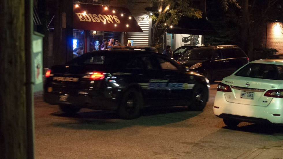 cleveland police car in tremont