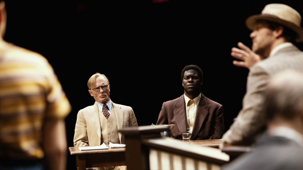 """A trial scene from writer Aaron Sorkin's re-interpretation of the novel and film versions """"To Kill a Mockingbird,"""" which is part of Playhouse Square's five-show season."""