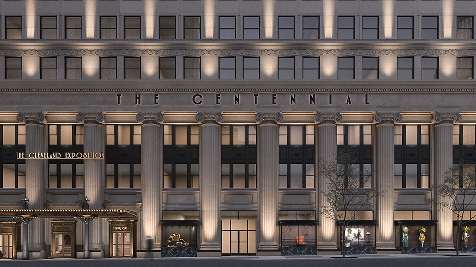 A rendering of the Centennial building on Euclid Avenue.