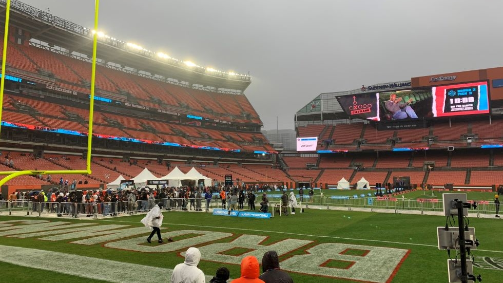 Fans can try to put one through the uprights at FirstEnergy Stadium this week at the NFL Draft Experience in Cleveland.