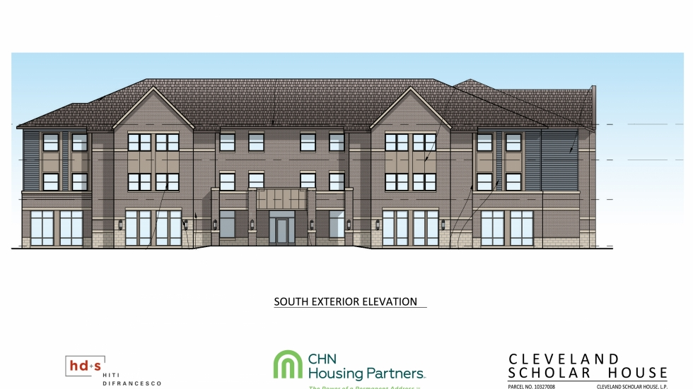 A rendering of the Cleveland Scholar House