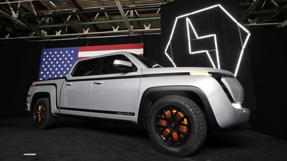 The electric Endurance pick-up truck at Lordstown Motors Corporation is shown, Thursday, June 25, 2020, in Lordstown, Ohio. [Tony Dejak / AP file photo]