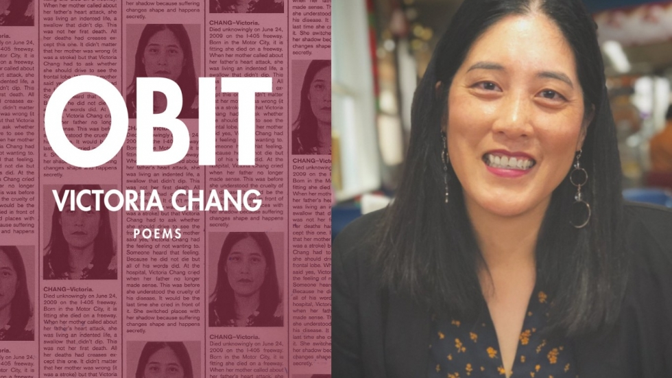"""The poems on the cover of Victoria Chang's """"Obit"""" are shaped to look like mini-obituaries"""