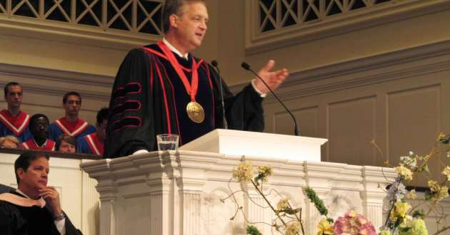Southern Baptist Theological Seminary President R. Albert Mohler, Jr. speaks at the school's convocation ceremony in 2013. Mohler, who has led the seminary for 25 years, commissioned a report on the role racism and support for slavery played in its origin and growth