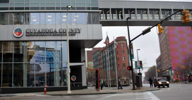 Cuyahoga County's administrative headquarters in downtown Cleveland.