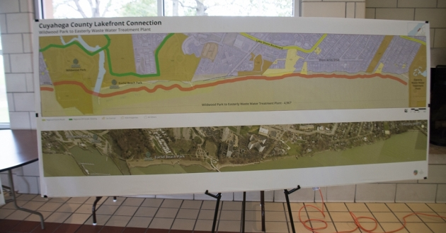 One portion of the county's proposal envisions a trail between Wildwood Park and the Easterly Wastewater Treatment Plant.
