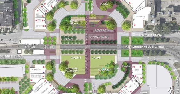 The redesign of Shaker Square includes rerouting Shaker Boulevard.